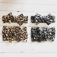 Детская печать Stretch ткань Leopard бант Kid Девочки Ткань оголовье Детские аксессуары для волос Довольно Дети Декор для волос