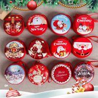 Pot de Noël Mini bonbons boîte d'étain bocal scellé Petit BIDONS pour enfant d'emballage de Noël Bonbonnière de Noël boîte-cadeau