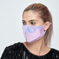 Moda Shinning Bling Sequins Mascarilla Cara Al Aire Libre Screen Anti-Polvo transpirable Lavable Face Mask Reutilizable Envío Gratis