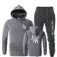 Tracksuit men thermal underwear Sportswear Sets Fleece Thick...