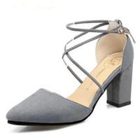 HOT Mulheres Verão Sapatos Lado com Dedo Apontado Bombas Sapatos de Vestido de Salto Alto Barco Sapatos de Casamento tenis feminino sandálias tamanho 35-39