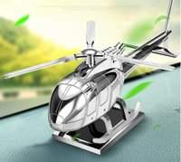 Car perfume, creative solar swing aluminum alloy airplane to...