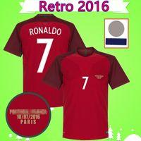 Portugal soccer jersey shirt RONALDO NANI RETRO Fußball Trikots 2016 FIGO CARVALHO klassische Camicia RUI COSTA Fußball Trikot Vintage QUARESMA Camisa de Futebol nach Hause rot