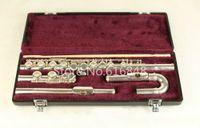 جوبيتر JFL-5011E C Tune Flute 16 مفاتيح ثقوب فلوت مغلق بالفضة فلوتا مع حقيبة ورؤوس منحنية صغيرة ماركة موسيقية
