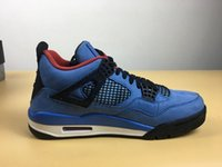 With Box New 4 IV Blue suede white Men Basketball Shoes snea...