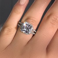 Fashion Anniversary ring 925 Sterling silver Engagement Ring...