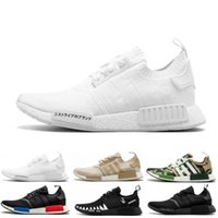 Tops NMD R1 Oreo Runner Japão NBHD Primeknit OG triplo Preto Branco Camo Running Shoes Homens Mulheres NMDS Runners XR1 Sports Trainers Tamanho 36-45
