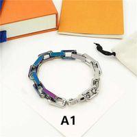Vente chaude Bracelet unisexe Bracelets de mode pour homme Femmes bijoux Bracelet à chaîne réglable Bijoux de mode 5 Modèle facultatif