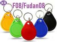 Entrée de contrôle RFID M1 F08 13,56 Porte-clés 14443A M1 S50 Petite puce IC Tag Porte-clés jeton Keyfob Nfc de contrôle d'accès Keyfob