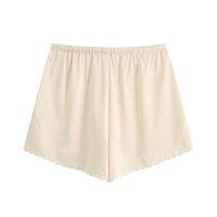 Женские шорты женщины стильные шикарные цветочные вышитые винтажные высокие эластичные талии шпаргалки короткие брюки повседневные панталоны мохера