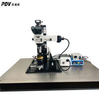 Deux microscope PDV transfert de matériel dimensions microscope de laboratoire microscope longue distance de travail
