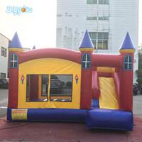Castelo Bouncy Inflável Jumping Bounce Casa Crianças Castelo Bouncy para crianças com ventilador