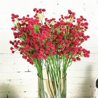 Nouvelle belle Branche Babysbreath Fleurs artificielles en plastique Plantes Faux Diy Arrangement de décoration florale de mariage Babybreath 1pc