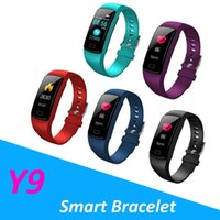 Y9 pulseira inteligente pulseira heart rate watch atividade rastreador de fitness smart watch pulseira para fitbit xiaomi apple watch band com caixa