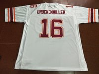 Hommes Virginia Tech Hokies 1997 Jim Druckenmiller # 16 Maillot College brodé taille réelle