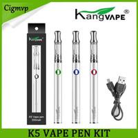 KANCVAPE K5 Vape Peen Starter Kit 350 мАч предварительно нагрева Временная батарея Напряжение Толстый испаритель масла с 0,5 мл Картридж нижний USB 100% подлинный