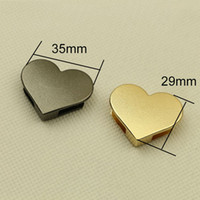 35*29mm Heart Bag Purse Decoration Corner With Screws Metal ...