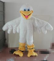 Profesional personalizado blanco águila de peluche traje de la mascota de dibujos animados gran pájaro Animal personaje ropa navidad fiesta de Halloween disfraces