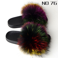 New Style Fur Slides for Women Cute Fuzzy Sandals Flip Flop ...
