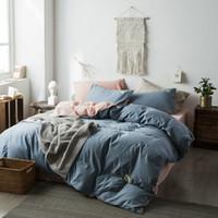S1905014 طقم سرير مريح مع غطاء لحاف ، طقم لحاف ، منسوج فاخر ، منسوج صيفي ، لحاف ، موديل الشمال ، بحجم كوين