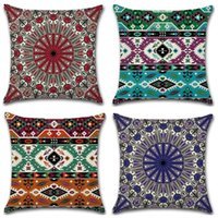 Geometric Abstraction Cushion Cover Colorful Mandala Pillow ...