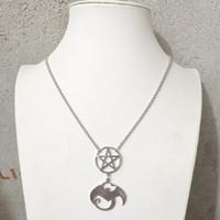Tech N9ne Pentagram Rolo catena collana pendente in acciaio inox fascino Factory Outlet all'ingrosso Alta lucidatura bel regalo