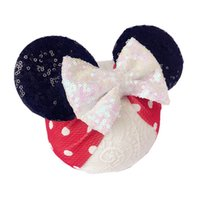 Dots baby headbands sequin hair bows infant girls accessorie...