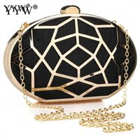 Box Geometry Clutch Evening Bag Elegent Chain Crossbody Bag ...