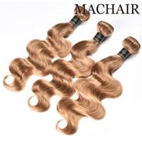 Perou Droite Vierge Cheveux 3/4 Bundles Perou Body Wave Couleur # 2 / # 4 / # 30 / # 27 Blonde au miel 100% Peruvian Bundles de cheveux humains