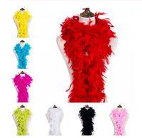 2yard flauschige Türkei-Feder-Boa Kleidung Accessoires Huhn-Feder-Kostüm / Shaw / Partei Hochzeit Dekorationen Federn für das Handwerk