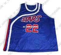 2411e14f4be9 New Arrival. wholesale Moses Malone  22 Stars New Basketball Jersey Blue Stitched  Custom any number name MEN WOMEN YOUTH BASKETBALL JERSEYS