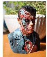 Terminator, Arnold Schwarzenegger GK Statue Creative Desktop Ornements Salon Décoration Accessoires