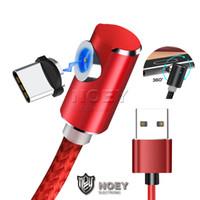 L USB de la forma del cable del cargador 3 en 1 cable de carga magnética tyep C Wire Cable de la línea de 360 grados del codo por teléfono móvil Noey