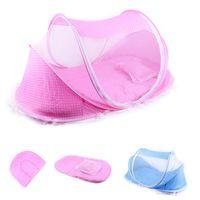 الطفل الفراش سرير شبكية للطي الطفل ناموسيات سرير فراش وسادة ثلاثة قطعة بدلة للأطفال 0-3 سنوات من العمر