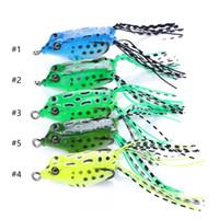Frosch-Köder 8g 55mm 100pcs Fliegenfischen Köder Super Deal topwater Ray Lure Snakehead Killer-Haken-weiche Köder-freies Verschiffen