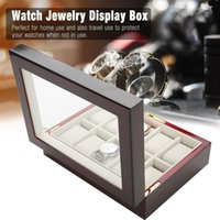 10 Grids Wood Watch Display Storage Box Case High Quality An...