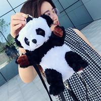 f64596bb0834 New Arrival. Remiel Women Backpacks 2019 New Plush Panda Cute Backpack  Fashion Soft Mochilas Mujer Escolar Rucksack School Bag ...