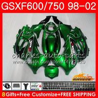 鈴木カタナGSX600F GSXF750 1999 2000 2001 2002 2HC.42 GSXF 750 600 GSX750F GSXF600 98 99 00 01 02在庫グリーンフェアリングキット