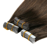 Tape Drawn Duplo extensões do cabelo Natural extensões do cabelo humano Silky brasileira Virgem Cabelo Fita Pele trama Multi Cores 40 PCS 100g