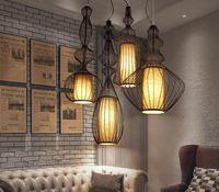 LED 현대 펜던트 램프 큰 귀족 매달려 펜던트 조명기구 화이트 블랙 버드 케이지 레스토랑 카페 펍 홈 실내 조명 Droplight