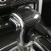 Per AUDI A4 B9 A5 A7 A7 A3 S6 Q5 Q7 Q7 RS4 Console Gearshift Maniglia Maniglia Testa Copertura Cornice in fibra di carbonio Adesivo Auto Automobile Accessori interni