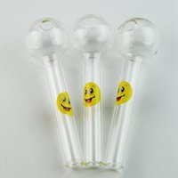 Newest Pyrex Glass Oil Burner Pipes With Smile Logo Funny Ha...