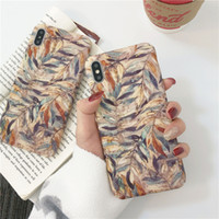 Vintage Watercolor Leaves Cases For iPhone XS Max For iPhone...
