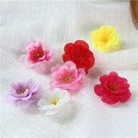 200 SZTUK 6Colory Sztuczne Wintersweet Plum Blossom Kwiat Dekoracyjny Jedwab Kwiat Głowa do Dekoracji Domu Ślubne Materiały