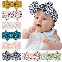 8 colori fascia della neonata di modo morbido pois Fiore leopardo ragazza dell'arco Boemia Infant Accessori per capelli fascia