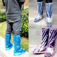 حذاء طويل يغطي 3 ألوان للماء المتاح البلاستيكية المضادة للانزلاق حامي أحذية يغطي الغبار المنزلية الجرموق LJJO7781