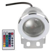 10W 12v subacquea RGB ha condotto la luce 1000LM impermeabile IP65 fontana piscina acquario colore della lampada 16 cambiamento 24key IR Remote Controller