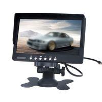 1pcs 7 인치 LCD 디스플레이 컬러 스크린 자동차 리어 뷰 원격이있는 원격 카메라에 연결할 수 있습니다