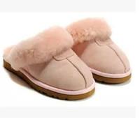 أستراليا النعال القطن الدافئة الرجال والنعال الأحذية النسائية القصيرة للأحذية الشتاء النساء الفراء الصورة أحذية الثلج أحذية النعال التمهيد الجلود