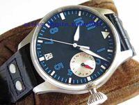 Mens luxe Top Quality Cal.51111 46mm montre à cadran bleu 7 jours épargne dynamique saphir mécanique automatique Mens Watch montres